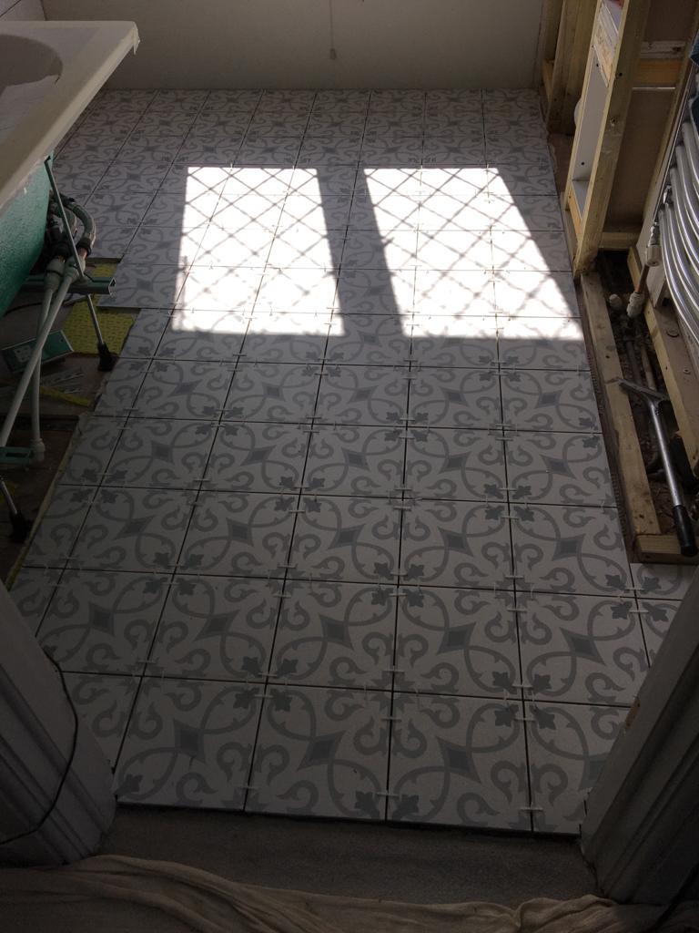 full bathroom renovation in coulsdon by igdbuilding - in progress