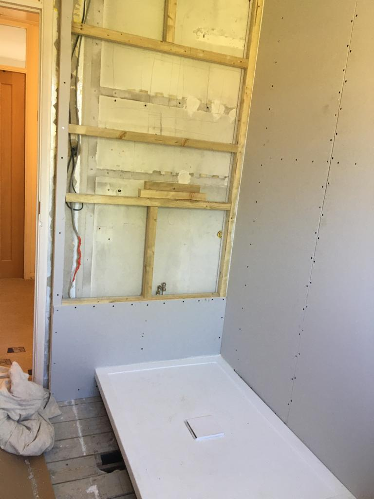 Complete Bathroom Renovation in Redhil - in progress